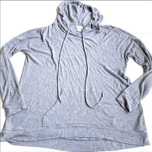 Mossimo soft ribbed Gray hoodie medium